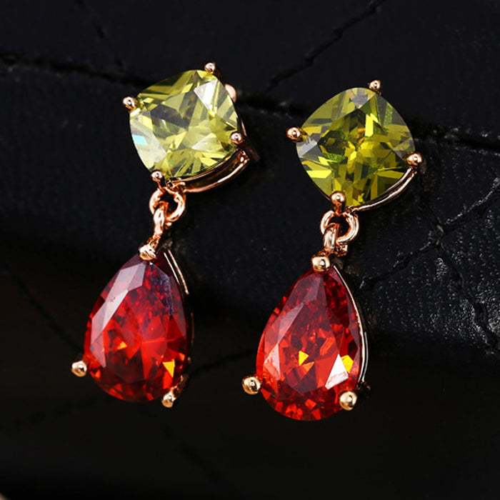 Sukkhi Exquisite Pear Crystal Rhodium Plated Earring for Women