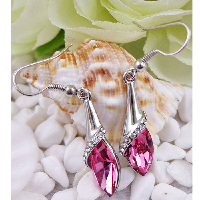 Sukkhi Appealing Pink Crystal Rhodium Plated Earring for Women