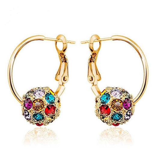 Sukkhi Lavish Crystal Gold Plated Multi Colour Earring for Women