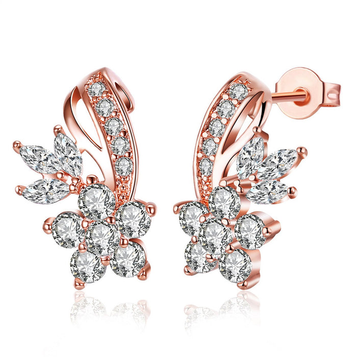 Sukkhi  Crystal Exclusive Pink Gold Plated Earring for Women