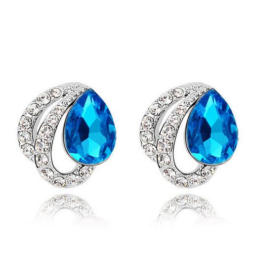 Sukkhi Exquisite Crystal Rhodium Plated Earring for Women