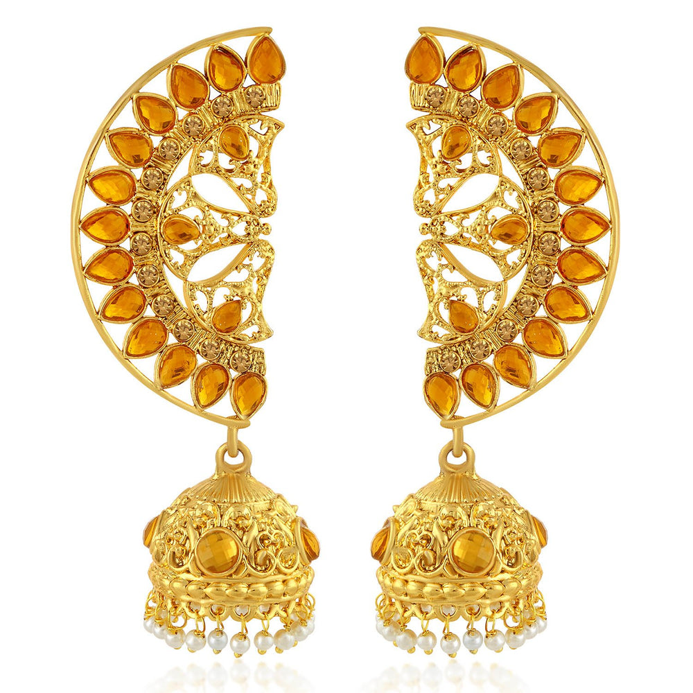 Sukkhi Adorable LCT Gold Plated Pearl Jhumki Earring For Women