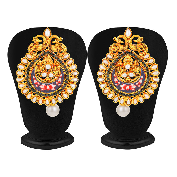 Sukkhi Modern Gold Plated Peacock Almond Earring for Women