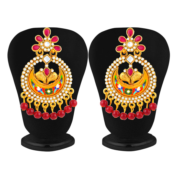 Sukkhi Classy Gold Plated Colourful Chand Bali Earring for Women