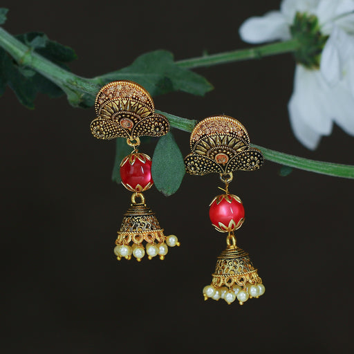 Sukkhi Exotic LCT Gold Plated Pearl Jhumki Earring For Women