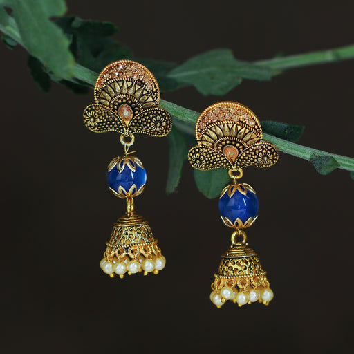 Sukkhi Glittery LCT Gold Plated Pearl Jhumki Earring For Women