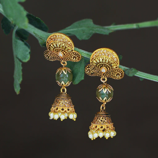 Sukkhi Gleaming LCT Gold Plated Pearl Jhumki Earring For Women
