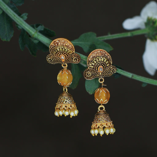 Sukkhi Fascinating LCT Gold Plated Pearl Jhumki Earring For Women