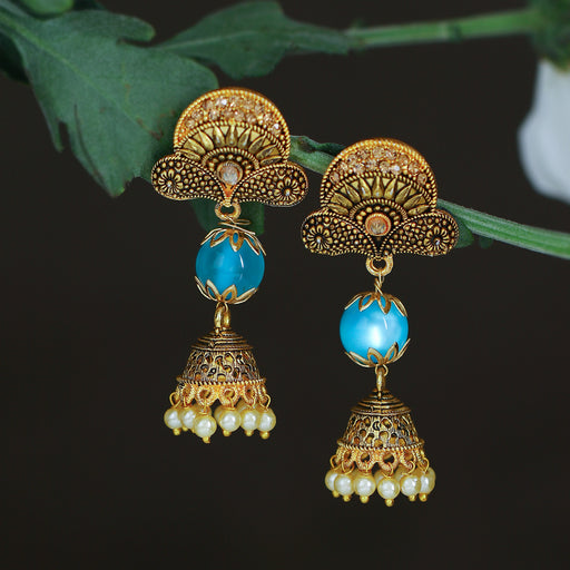 Sukkhi Classic LCT Gold Plated Pearl Jhumki Earring For Women