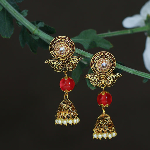 Sukkhi Classic LCT Gold Plated Jhumki Earring For Women