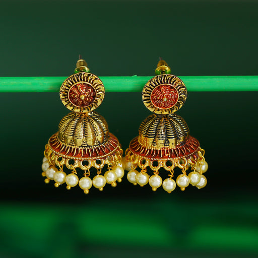 Sukkhi Classic Gold Plated Mint Collection Pearl Jhumki Earring For Women