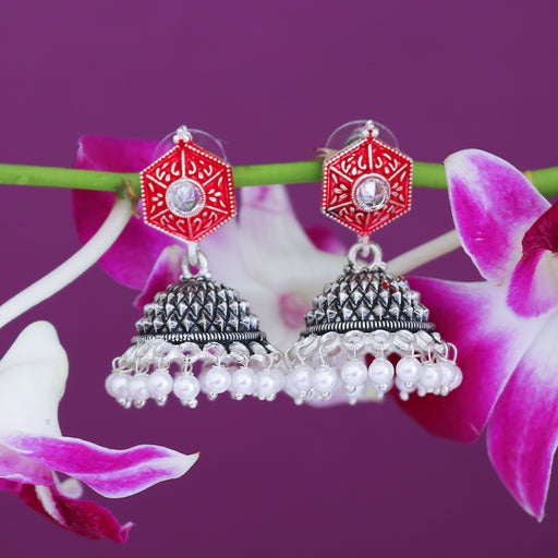 Sukkhi Exotic Oxidised Mint Collection Pearl Jhumki Earring From Women