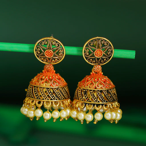 Sukkhi Graceful Gold Plated Mint Collection Pearl Jhumki Earring For Women