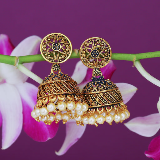 Sukkhi Glamorous Gold Plated Mint Collection Pearl Jhumki Earring For Women