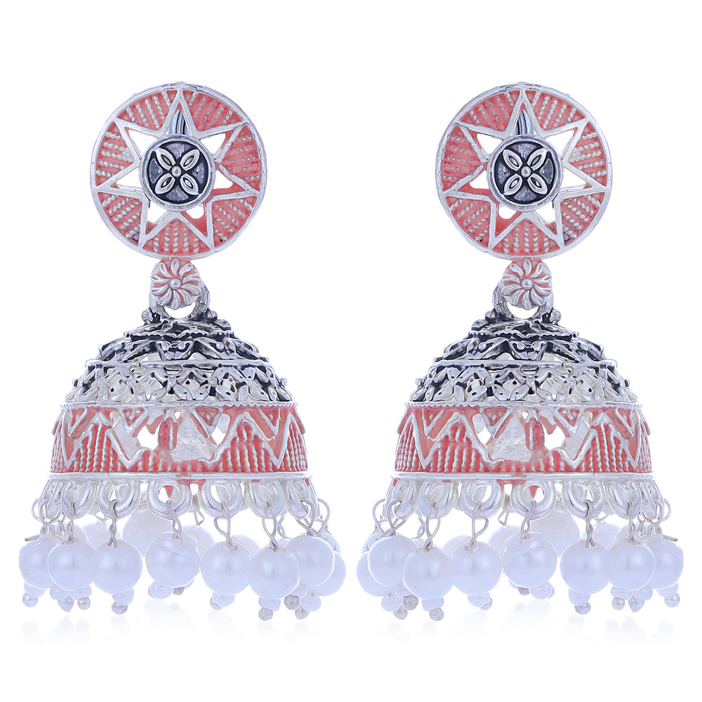 Sukkhi Exclusive Oxidised Mint Collection Pearl Jhumki Earring For Women