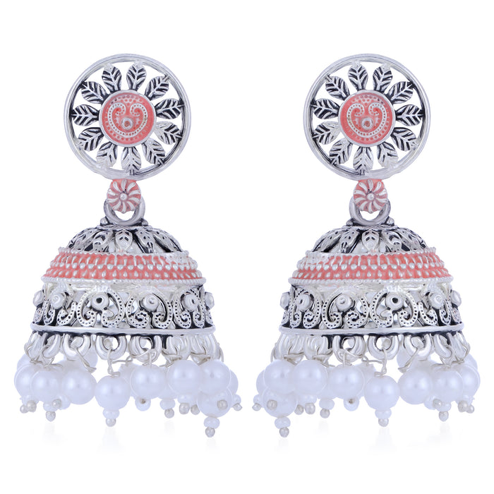 Sukkhi Graceful Oxidised Mint Collection Pearl Jhumki Earring For Women