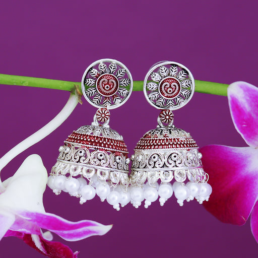 Sukkhi Spectacular Oxidised Mint Collection Pearl Jhumki Earring For Women