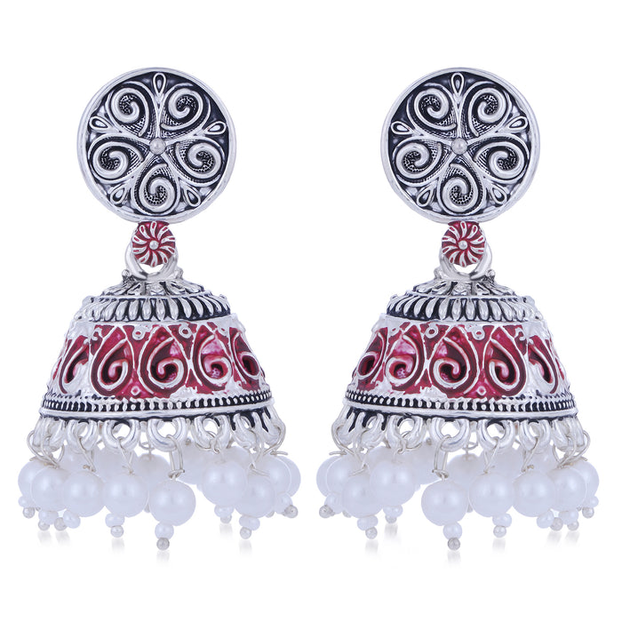 Sukkhi Sparkling Oxidised Mint Collection Pearl Jhumki Earring For Women
