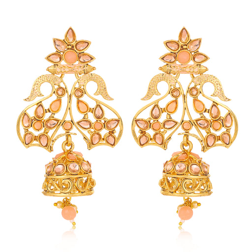 Sukkhi Adorable LCT Gold Plated Pearl Mint Meena Collection Jhumki Earring For Women