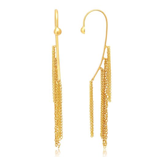 Sukkhi Marquise Gold Plated Earcuff Ear-Cuff For Women