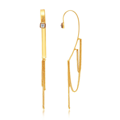 Sukkhi Shimmering Gold Plated Earcuff Ear-Cuff For Women