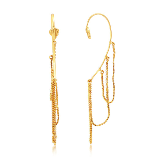 Sukkhi Gleaming Gold Plated Earcuff Ear-Cuff For Women