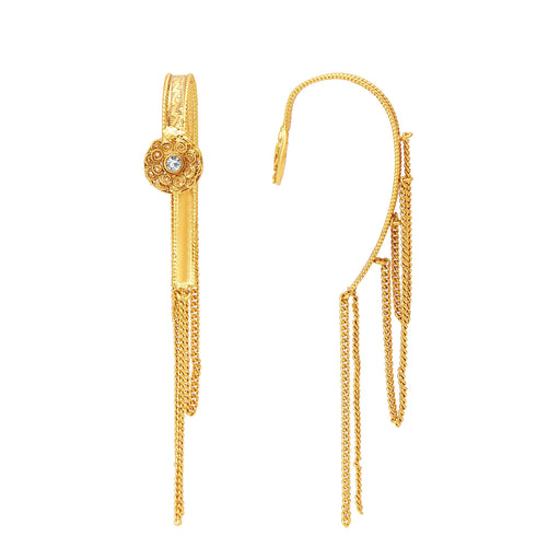 Sukkhi Ravishing Jalebi Gold Plated Ear-Cuff For Women