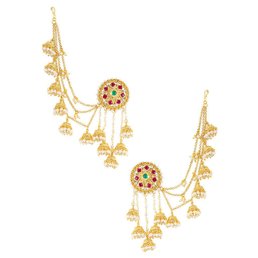 Sukkhi Traditional Elephant Inspired Zhumki Design Ear cuff Earring for women - Title