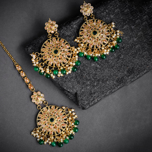 Sukkhi Gold Plated Earring and Maangtikka Set