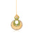 Sukkhi Gorgeous Gold Plated Mint Meena Collection Chand Bali Earring & MaangTikka for Women