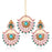 Sukkhi Pleasing Gold Plated Colourful Stone Chand Bali Earring & MaangTikka for Women