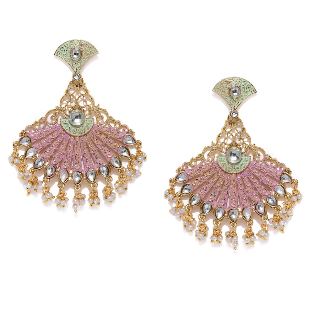 Sukkhi Gorgeous Gold Plated Mint Collection Earring for Women
