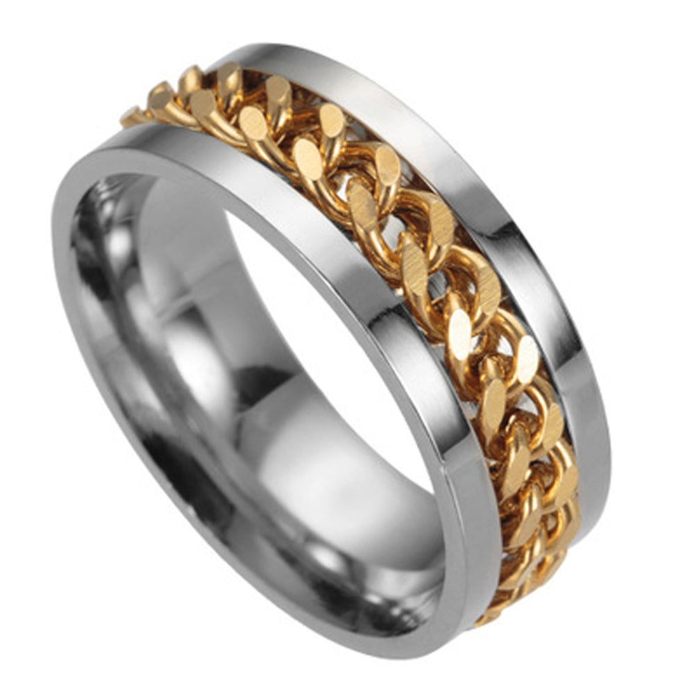Sukkhi Dazzling Tough Dude Chain Two tone Rhodium Plated Gents Ring - 18