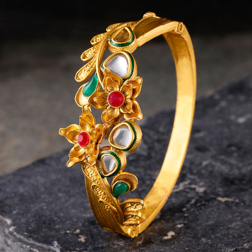 Sukkhi Tibale Gold Plated Kundan Kada For Women