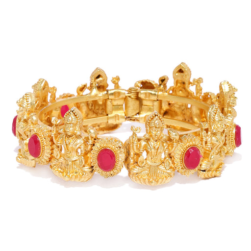 Sukkhi Stylish Temple Gold Plated Kada For Women
