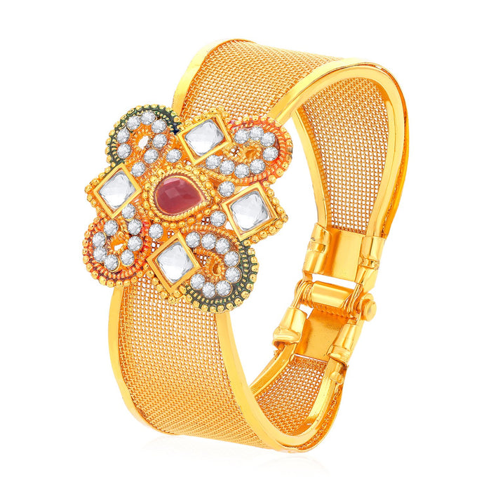 Sukkhi Modern Gold Plated Kundan Kada for Women