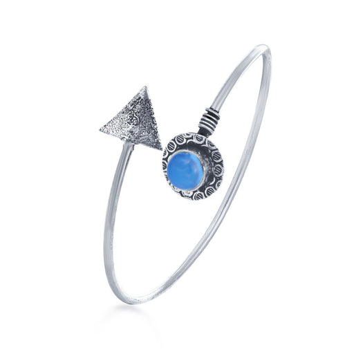 Sukkhi Cluster Oxidised Triangle Triangle Kada for Women