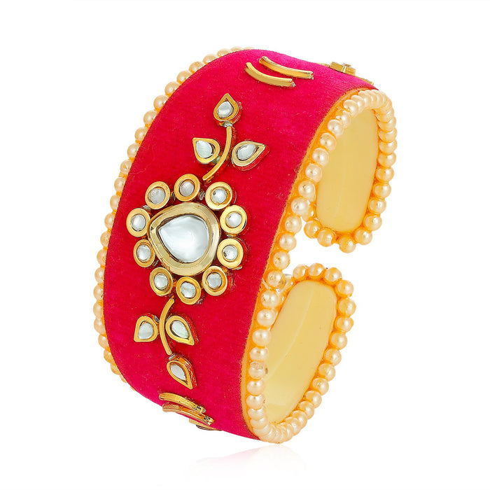 Sukkhi Fabulous Gold Plated kundan kada for Women