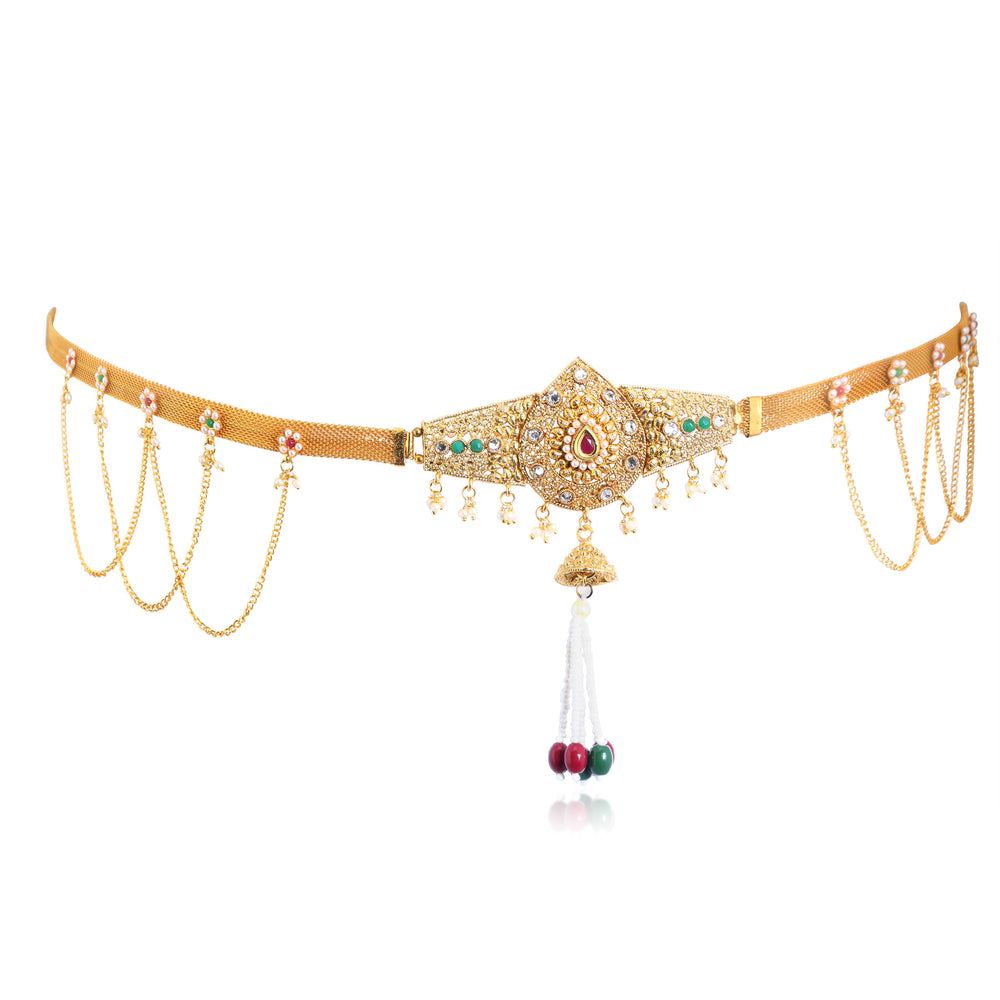 Sukkhi Classic AD Gold Plated Kamarband for women