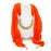 Sukkhi Classic Orange Scarf Necklace for women