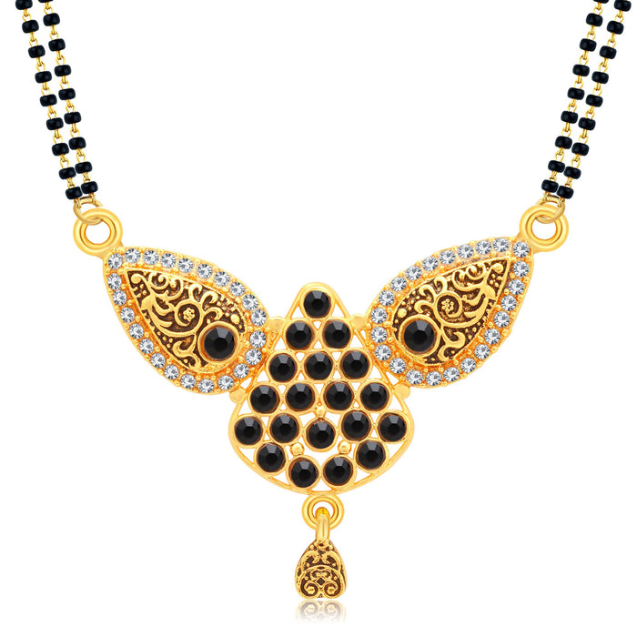 Sukkhi Fashionable Gold Plated AD Mangalsutra For Women