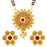 Sukkhi Traditional Jalebi Floral Gold Plated Mangalsutra Set for Women
