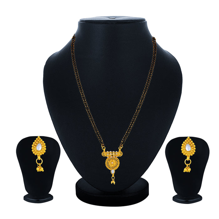Sukkhi Pleasing Gold Plated Kundan Floral Mangalsutra for Women