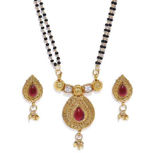 Sukkhi Shimmering Gold Plated Mangalsutra Set For Women