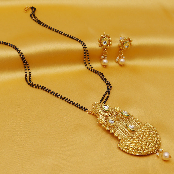 Sukkhi Astonish Kundan Gold Plated Mangalsutra Set For Women