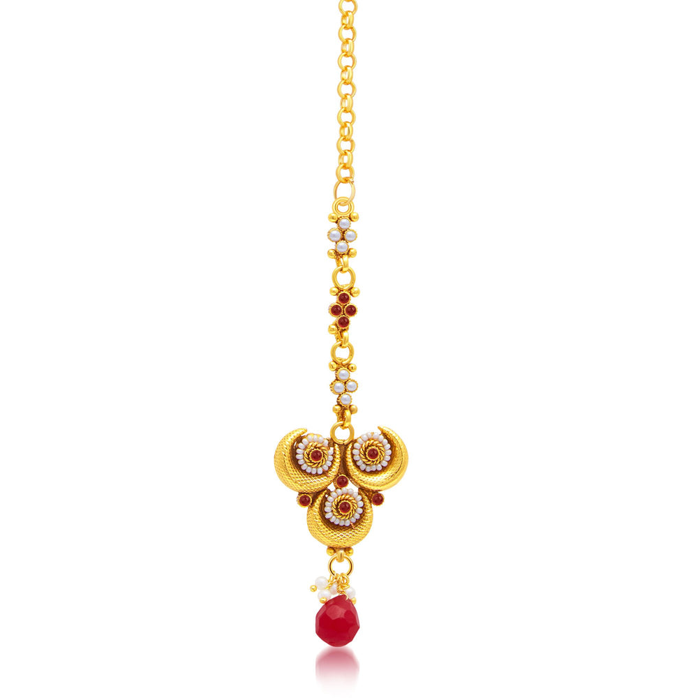 Sukkhi Excellent Gold Plated Choker Necklace Set For Women-3