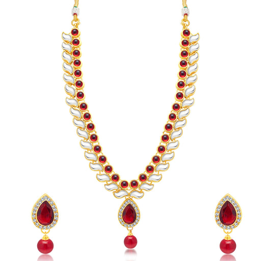 Sukkhi Cluster Gold Plated Choker Necklace Set For Women
