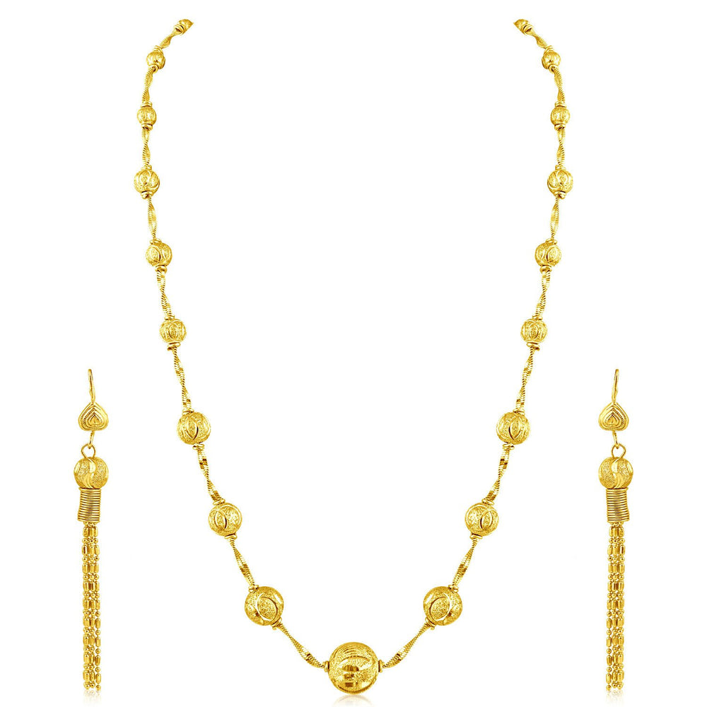 Sukkhi Amazing Gold Plated Long Haram Necklace Set For Women