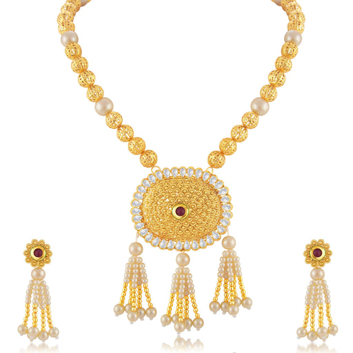 Sukkhi Artistically Gold Plated Bridal Necklace Set For Women