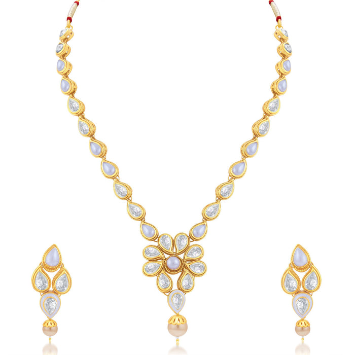 Sukkhi Excellent Gold Plated Choker Necklace Set For Women